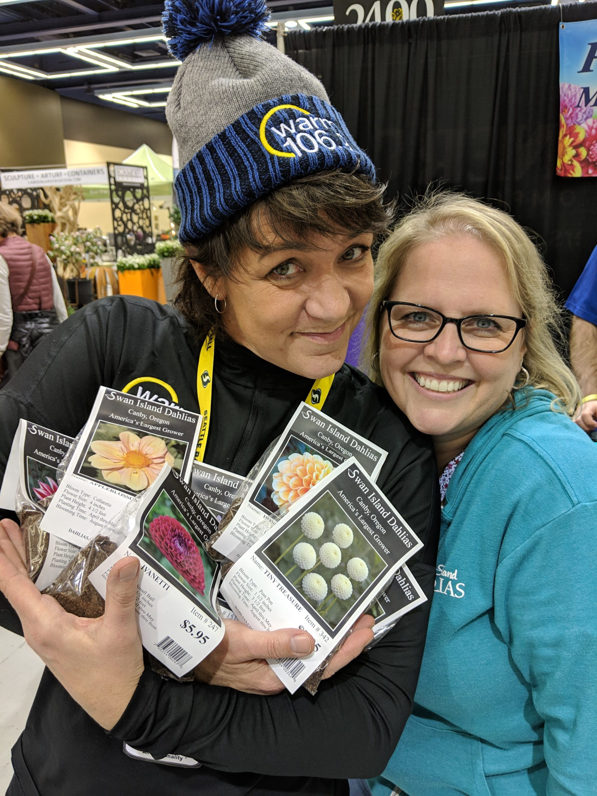 Shellie Hart at the #NWFGS Northwest Flower and Garden Show — at Washington State Convention Center. ©WARM 106.9 staff (1)